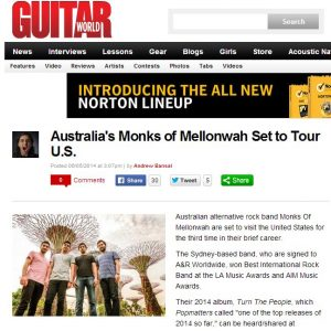 Australia s Monks of Mellonwah Set to Tour U.S. Guitar World